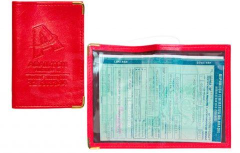 Porta documentos em couro